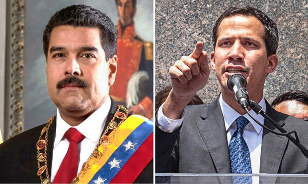 Venezuela President Nicolas Maduro and opposition leader Juan Guaidó