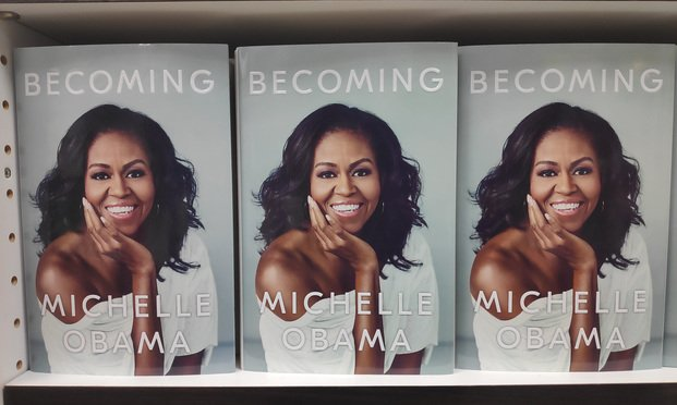 """Penguin Random House published former U.S. First Lady Michelle Obama's book """"Becoming"""" — one of the most successful memoirs ever published."""