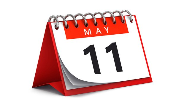 Image of May 11 on calendar