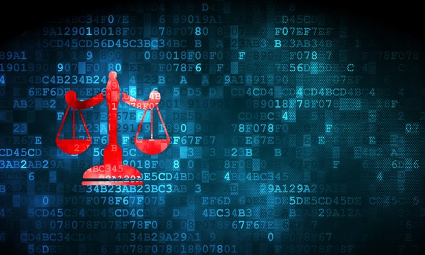 scales and data - illustrating legal tech