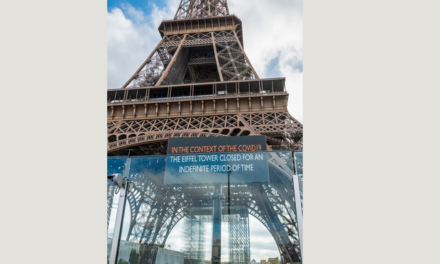 Eiffel Tower closed due to the coronavirus