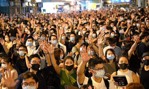 Hong Kong protest, frequent in 2019, have resumed.