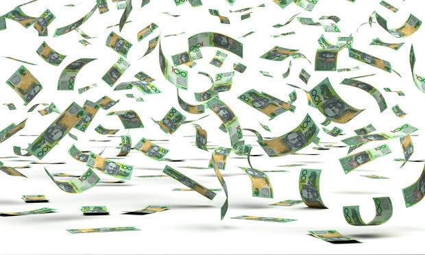 Australian dollars flying around