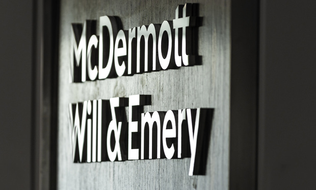 McDermott Will & Emery sign