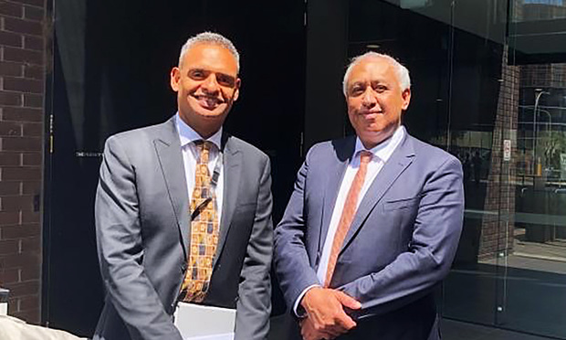 Brian Bero (L) and Bevan Mailman (R), of Jaramer Legal, Australia's first national majority Indigenous-owned law firm.