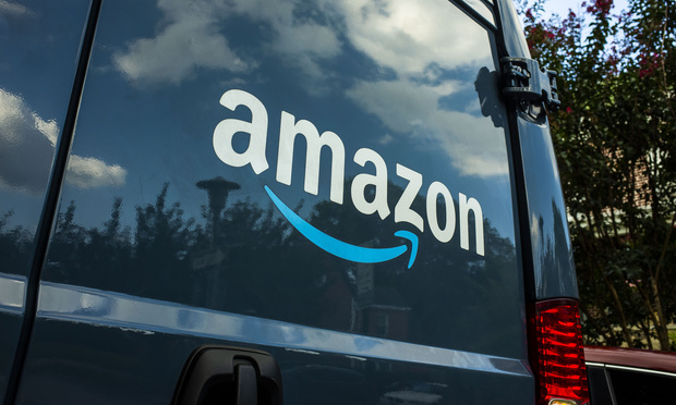 Amazon Prime delivery truck in Baltimore, Maryland. Photo by Diego Radzinschi/ALM