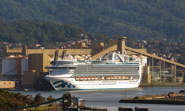 Ruby Princess cruise ship with crew infected with COVID-19