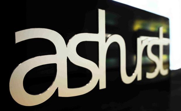 Ashurst signage