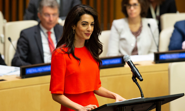 Amal Clooney, human rights lawyer and co-president of the Clooney Foundation for Justice