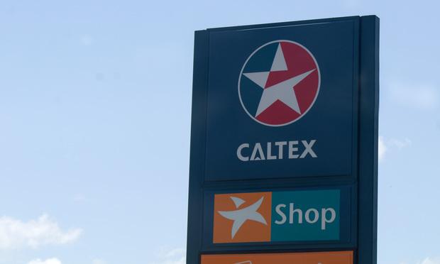 Caltex fuel station with convenience shop in Brisbane, Queensland, Australia.