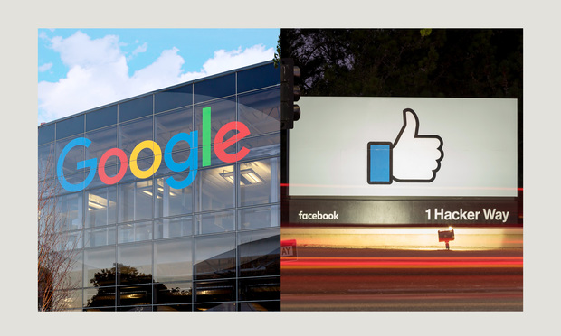 Google & Facebook signage