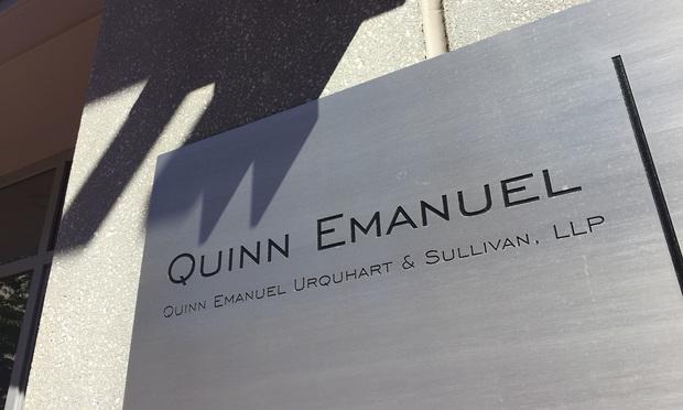 Quinn Emanuel Urquart & Sullivan signage
