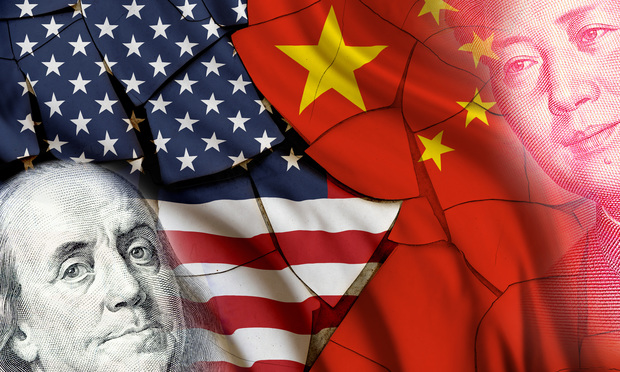 US China Financial Concept