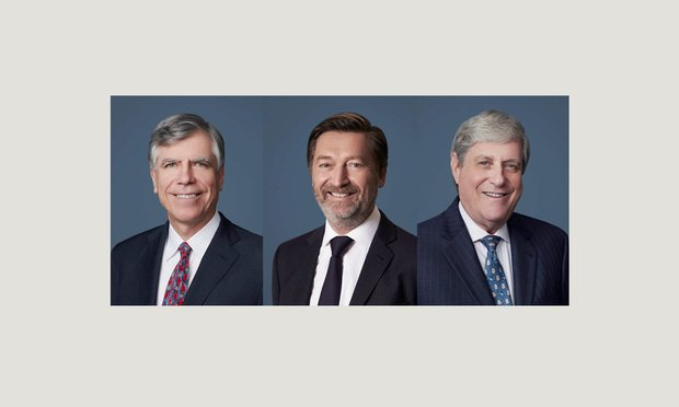 Eric Gilioli, Geoffroy Lyonnet, and Peter Wolrich, partners at Curtis, Mallet-Prevost, Colt & Mosle