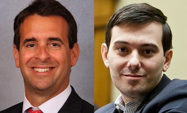 Evan Greebel, left, and Martin Shkreli.