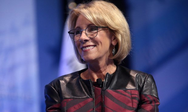 U.S. Department of Education Secretary Betsy DeVos