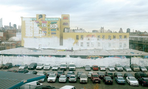 5Pointz after being covered in whitewash.