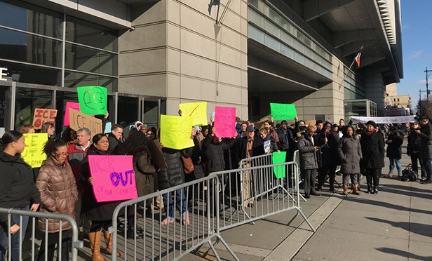 Hundreds Of Public Defenders Protest ICE Court Arrests