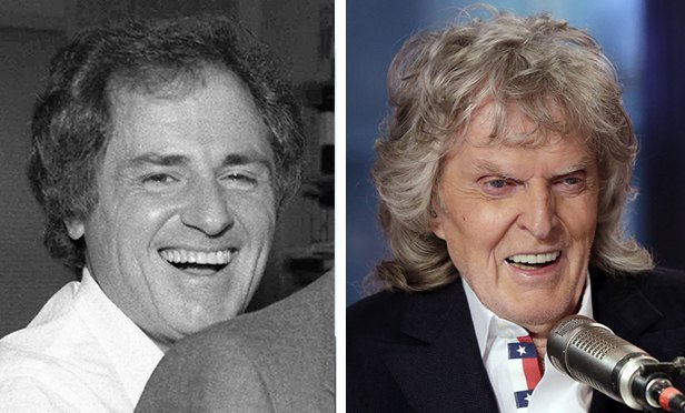 Warner Wolf in 1985, left, and Don Imus.