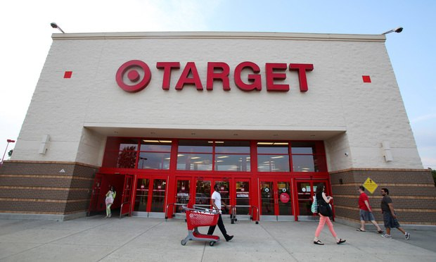 Shoppers walk past a Target department store in Hackensack, New Jersey.