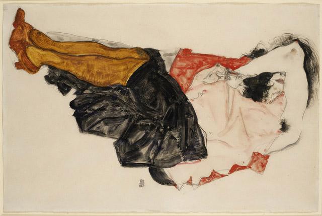 Egon Schiele, Woman Hiding her Face (1912).