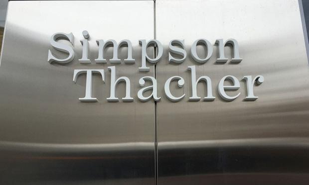 Simpson Thacher in Washington, D.C. November 9, 2015.