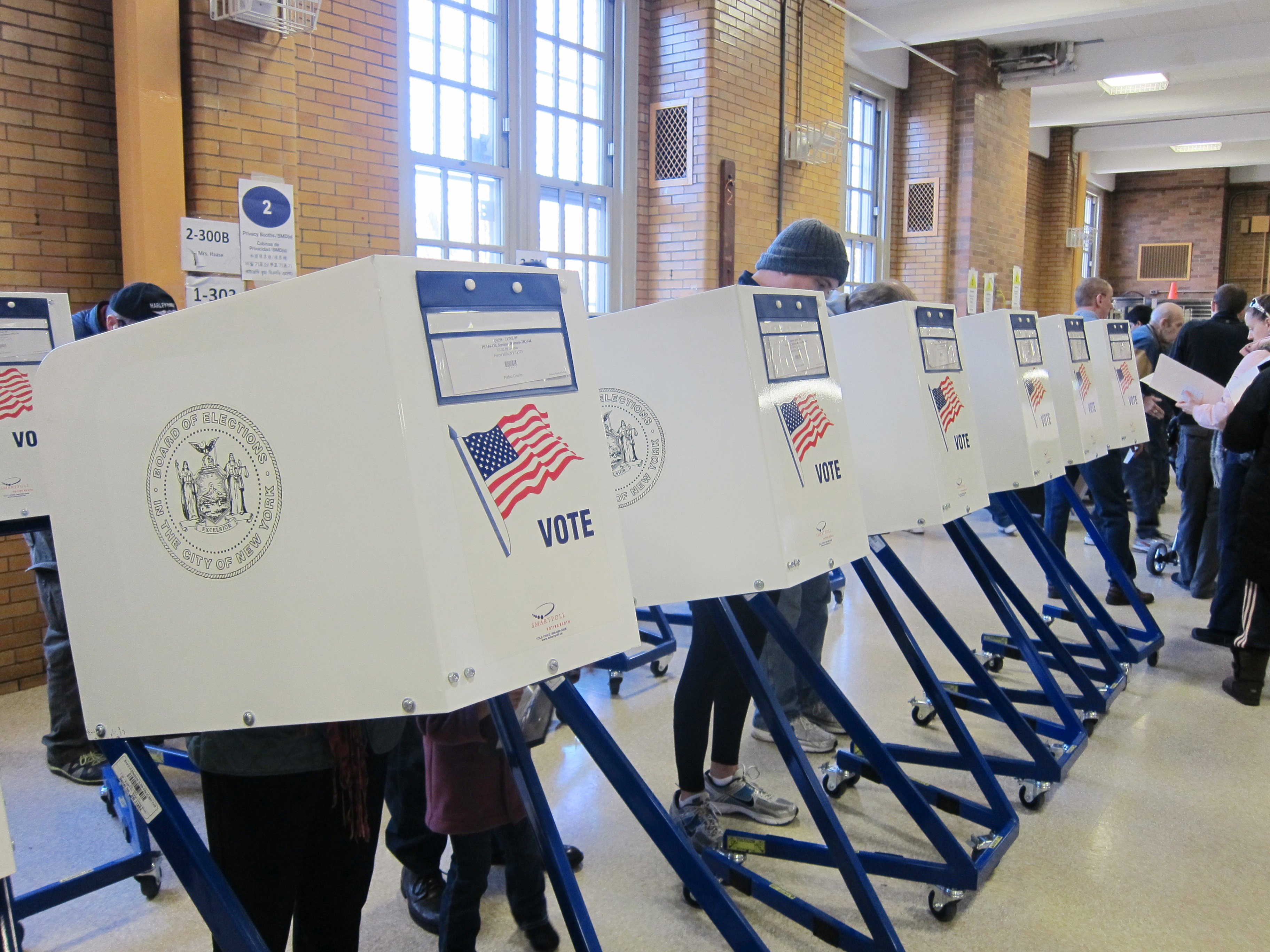 New York voting booths