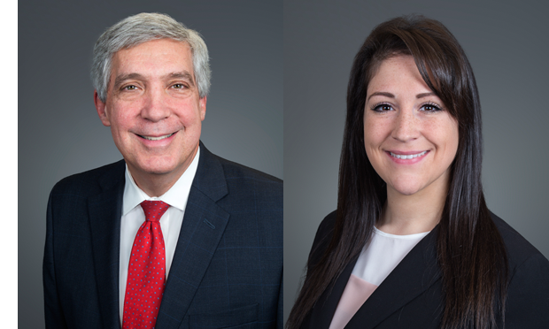 Pictured, from left, are Robert G. Brody and Lindsay M. Rinehart.