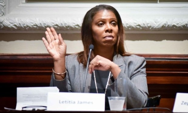 Letitia James at a debate of attorney general candidates on Sept. 4, 2018, at the New York City Bar Association. Photo Credit: David Handschuh/ALM