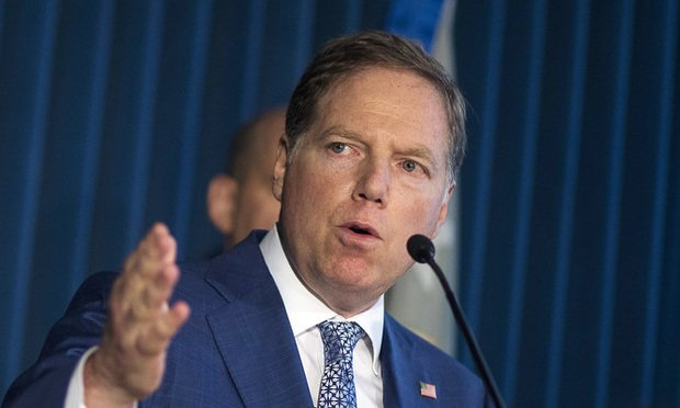 Geoffrey Berman, U.S. attorney for the Southern District of New York, speaks during a news conference in New York, U.S., on Wednesday, Aug. 8, 2018. Berman announced insider trading charges against Christopher Collins, a Republican Congressman representing the 27th District of New York (Photo: John Taggart/Bloomberg)