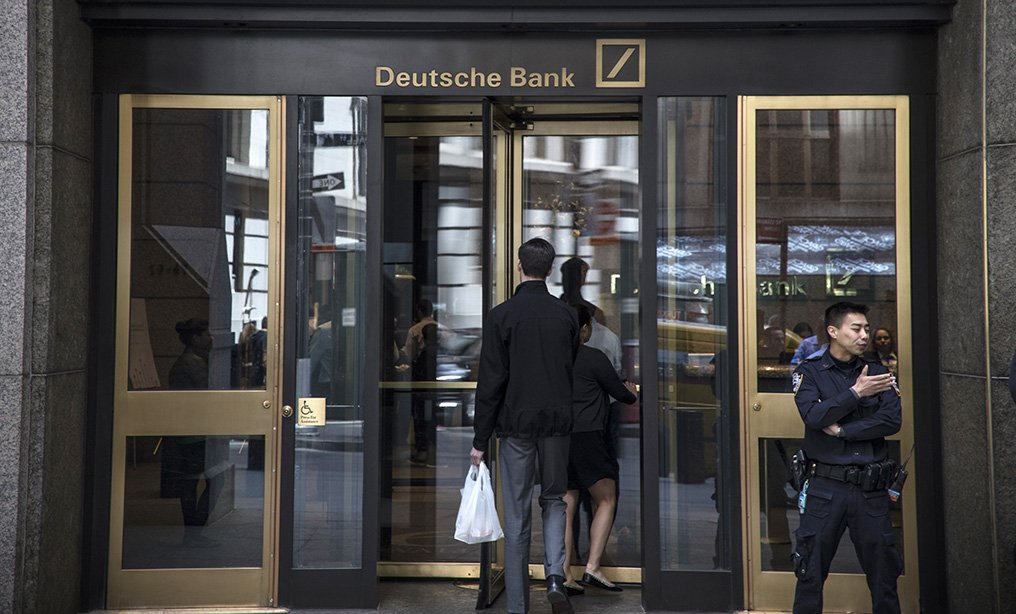Deutsche Bank AG headquarters on Wall Street. Photo: Victor J. Blue/Bloomberg