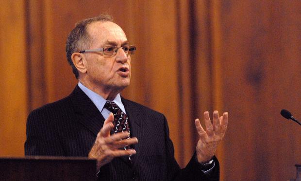 Alan M. Dershowitz. (Photo: Rick Kopstein/ALM)