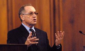 Dershowitz Seeks Disqualification of Boies Schiller Attorneys Dismissal of Epstein Accuser's Defamation Suit