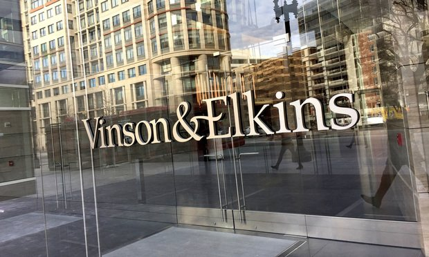 Vinson & Elkins' office sign