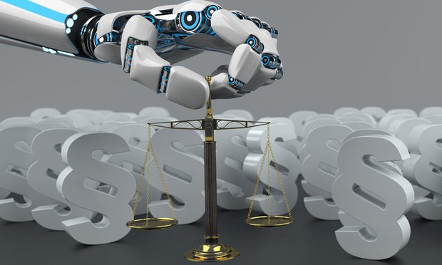 AI cyber law scales of justice