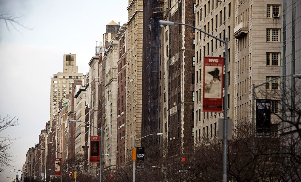 Apartment buildings line Park Avenue and Fifth Avenue on the Upper East Side of Manhattan, NY, Tuesday, February 25, 2014. Photograph: Victor J. Blue