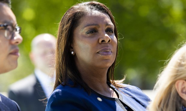 New York State Attorney General Letitia James in April.