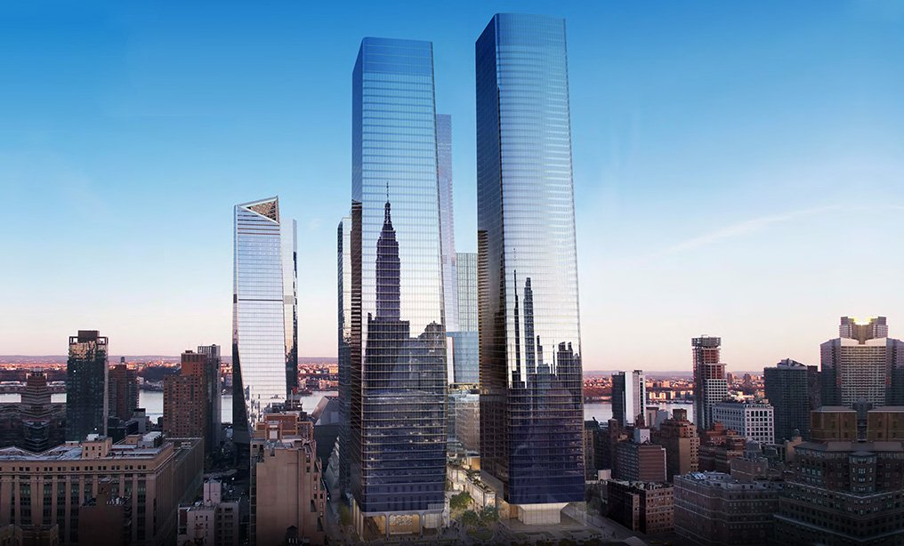 One and Two Manhattan West (Architectural rendering courtesy of Brookfield)