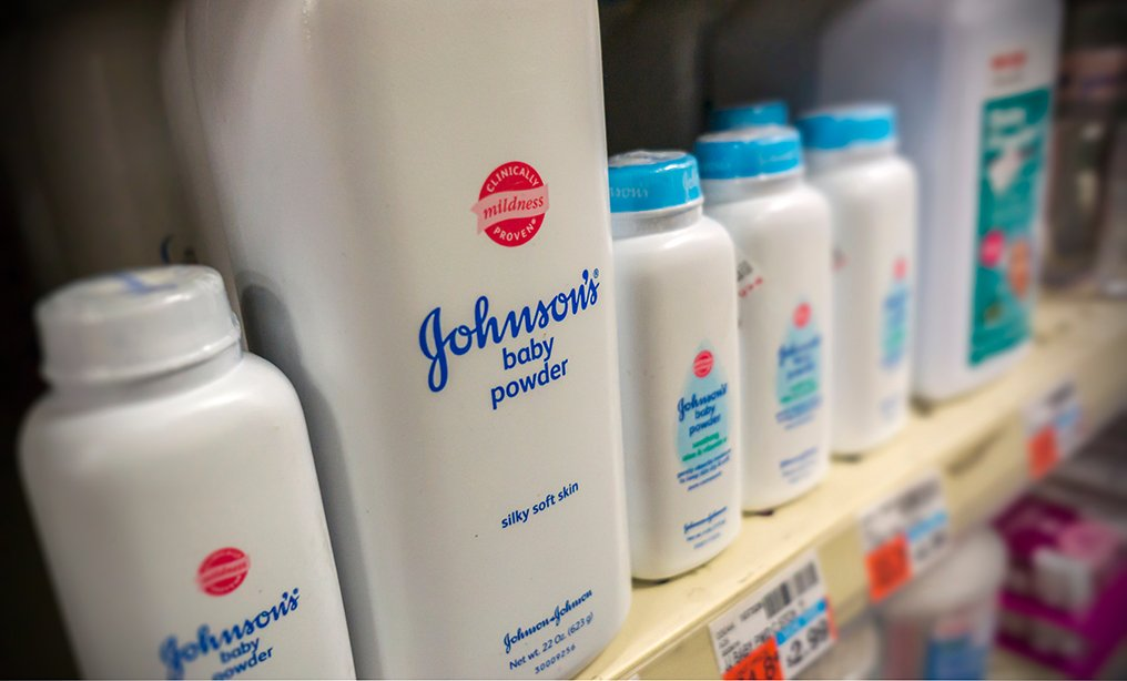Johnson & Johnson products displayed for sale in a drugstore in New York.