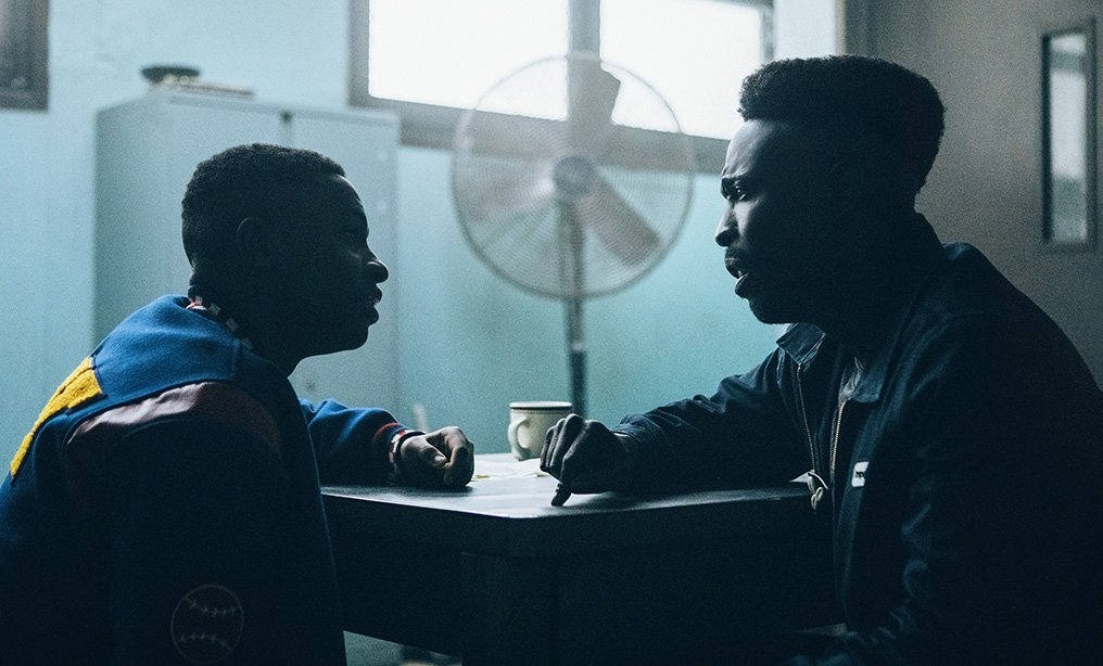 "Caleel Harris as Young Anton McCray and Michael K. Williams as Bobby McCray in a scene from Netflix show ""When They See Us."""