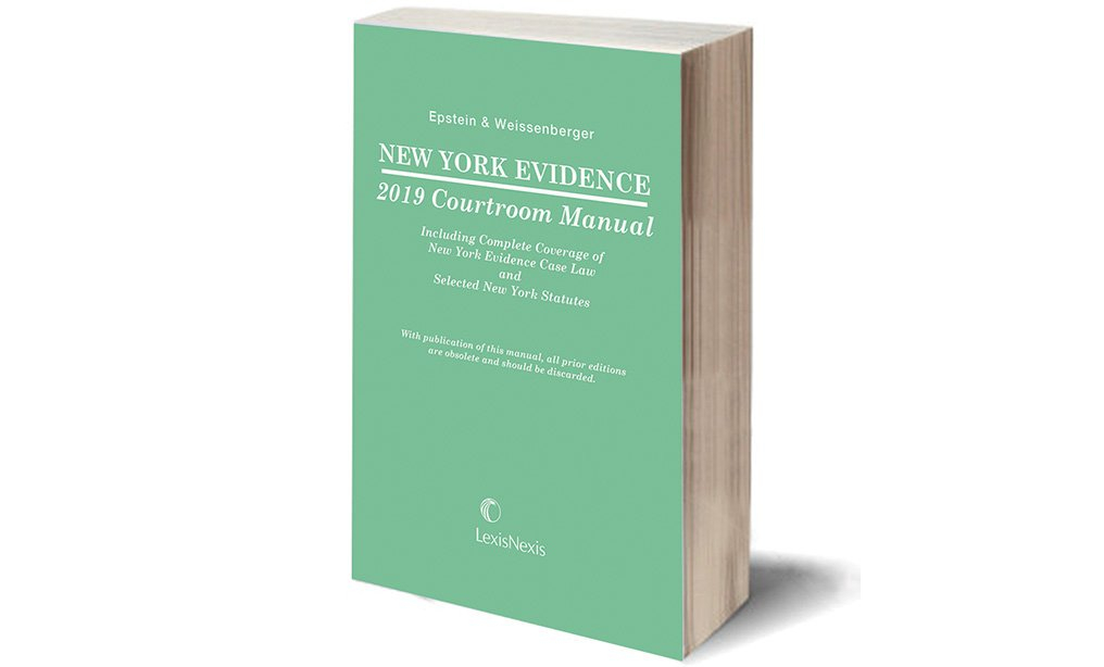 Cover of New York Evidence Courtroom Manual