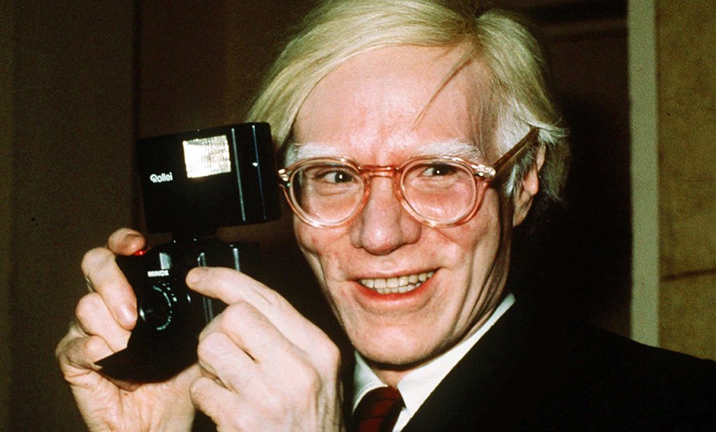 Andy Warhol in 1976.