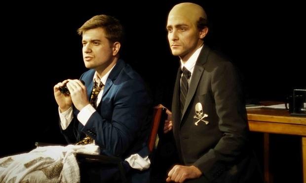 "Michael Breen, as Ross Cellino, and David Rafailedes, as Steve Barnes, in a two person comedy,""Cellino v. Barnes."" Courtesy photo/Andrew Breen"