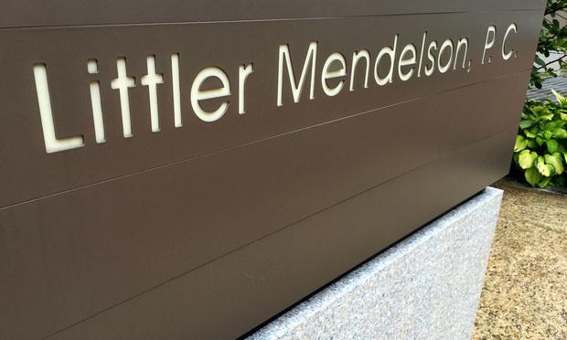 Littler Mendelson. Photo: Diego M. Radzinschi/ALM