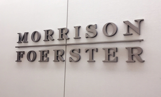 Morrison & Foerster offices in New York.
