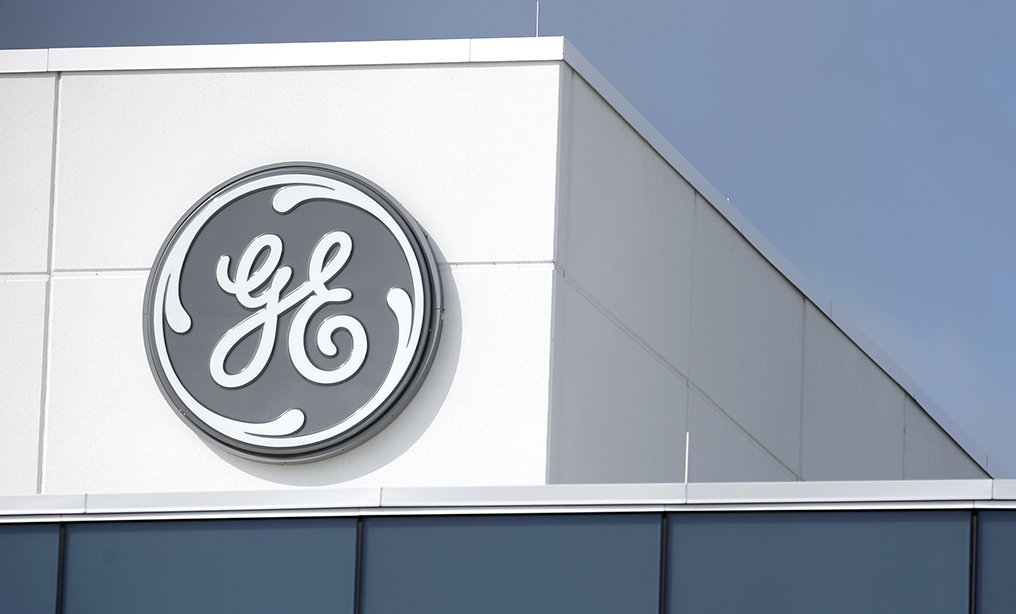 Signage outside the General Electric Co. plant in Lafayette, Indiana.