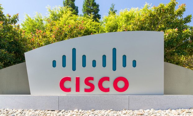 Cisco Systems Inc. corporate headquarters and logo. Credit: Shutterstock.