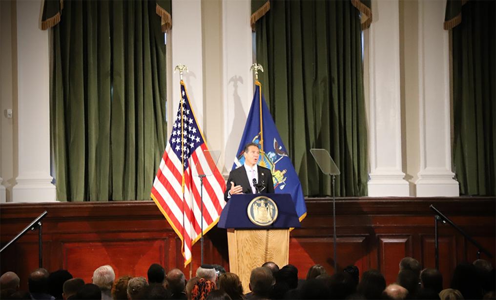 Gov. Cuomo speaks at the New York City Bar Aug. 15th.