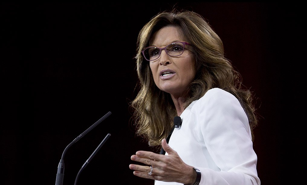 Sarah Palin, former governor of Alaska, speaks during the Conservative Political Action Conference in Maryland in 2015.