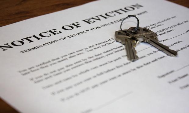 Eviction notice/credit: bigstock.